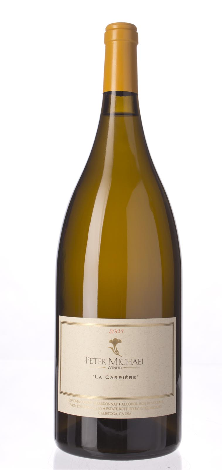 Peter Michael Winery Chardonnay la Carriere 2003, 1.5L (WA97) from The BPW - Merchants of rare and fine wines.