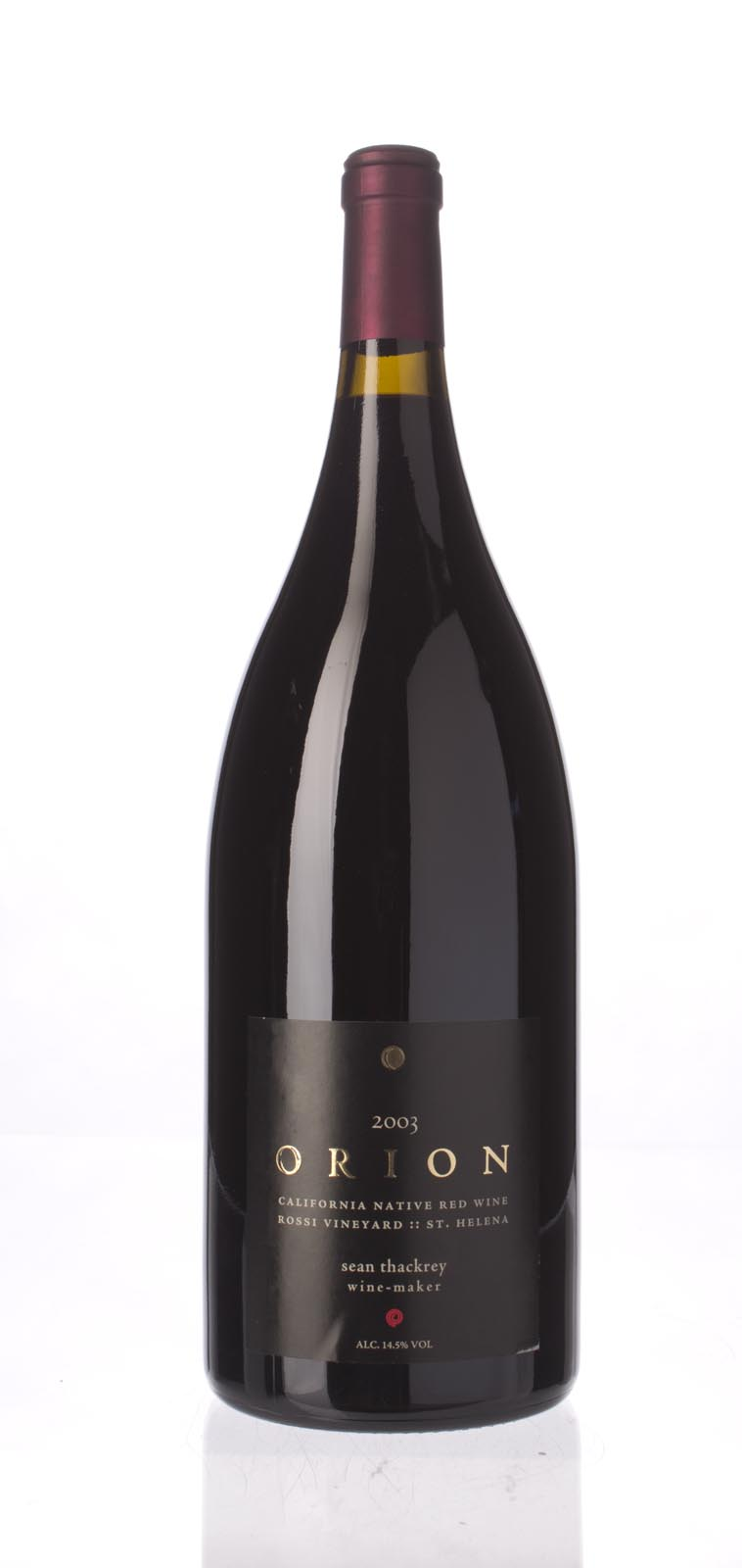 Sean Thackrey Syrah Orion 2003, 1.5L (WA95) from The BPW - Merchants of rare and fine wines.