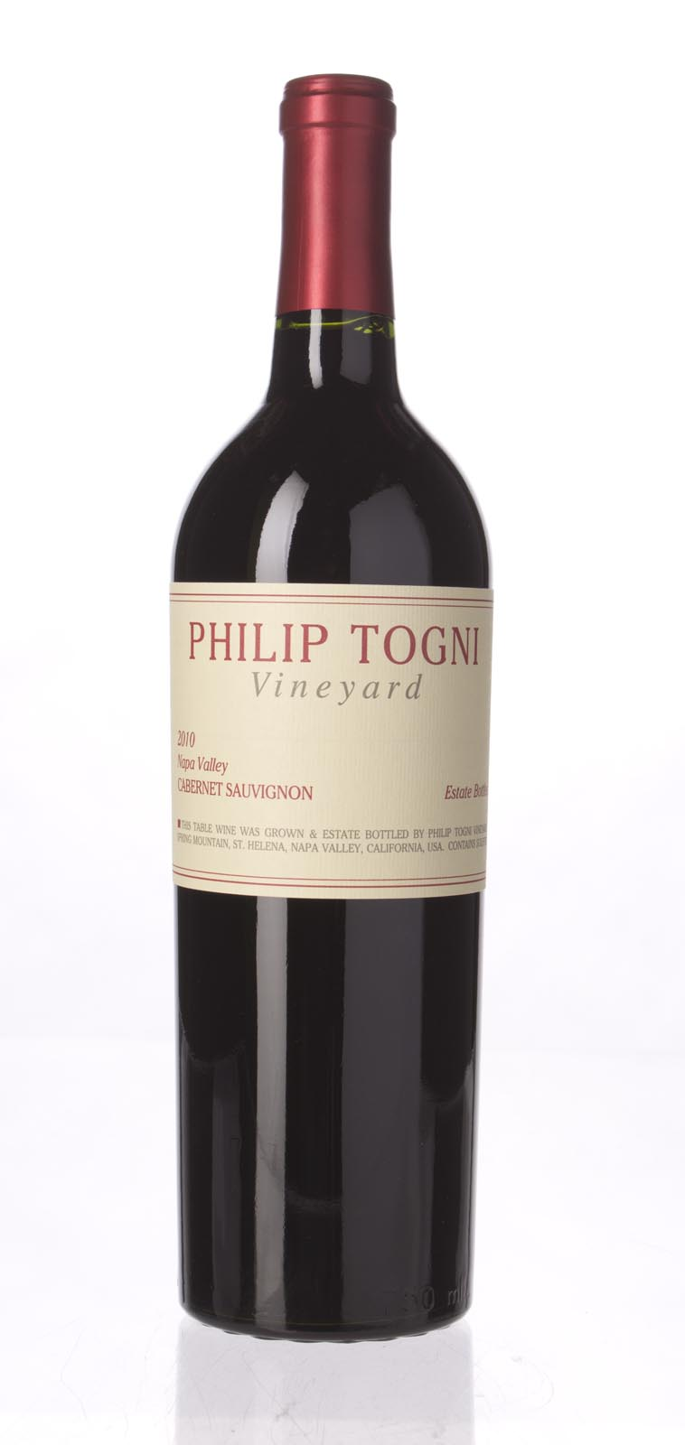 Philip Togni Cabernet Sauvignon 2010, 750ml (WA95-97+) from The BPW - Merchants of rare and fine wines.