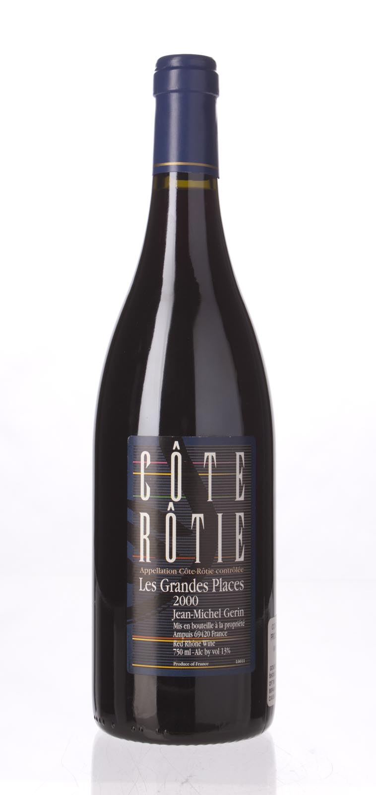 J. M. Gerin Cote Rotie les Grandes Places 2000, 750mL (WA90, ST91) from The BPW - Merchants of rare and fine wines.