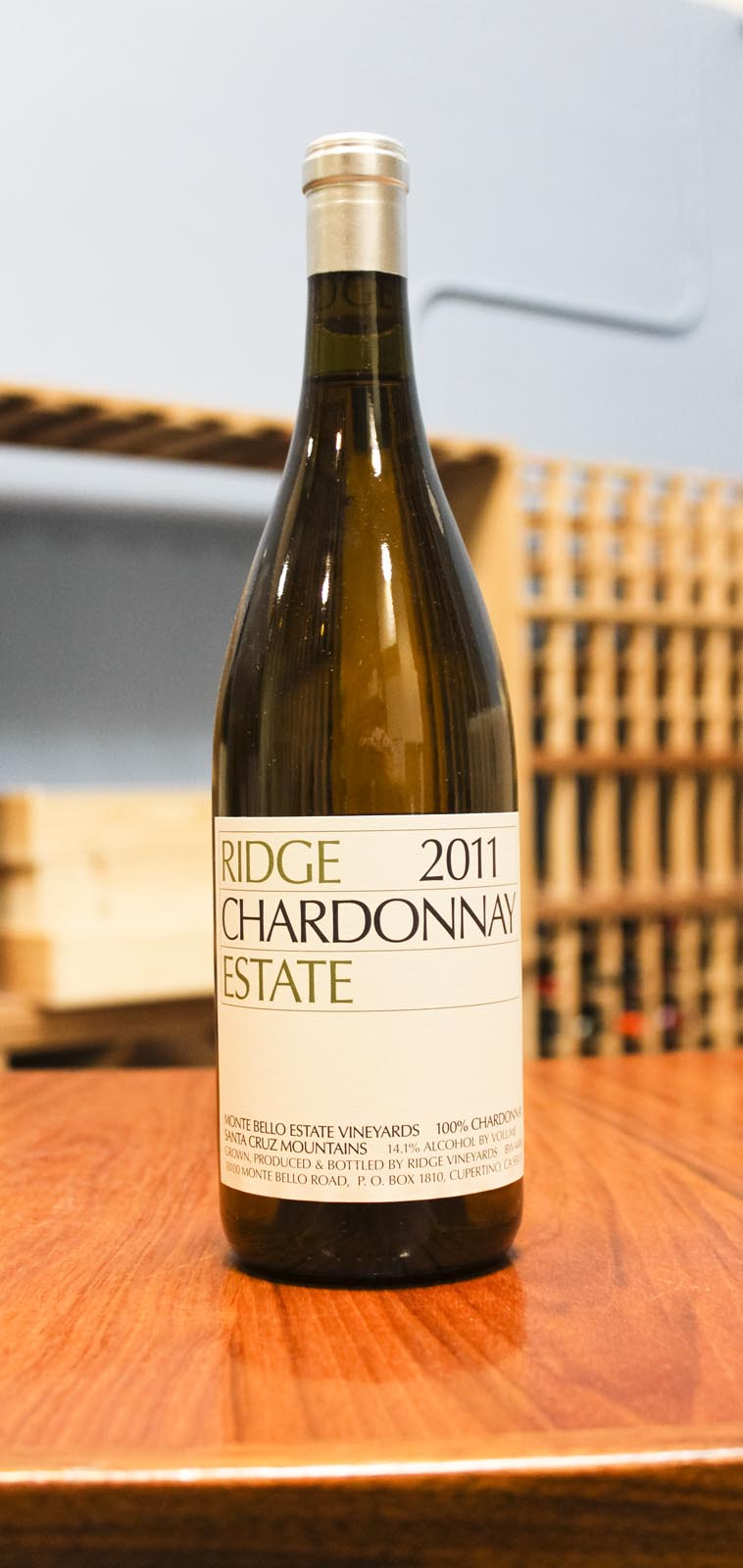 Ridge Chardonnay Santa Cruz Mountains Estate Vineyard 2011, 750ml () from The BPW - Merchants of rare and fine wines.