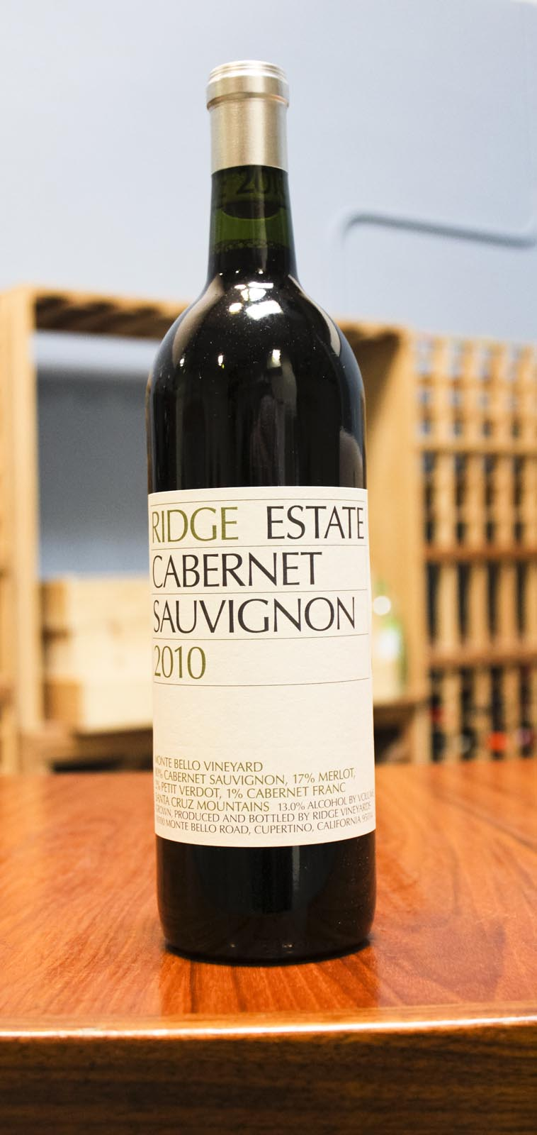 Ridge Cabernet Sauvignon Santa Cruz Mountains 2010,  () from The BPW - Merchants of rare and fine wines.