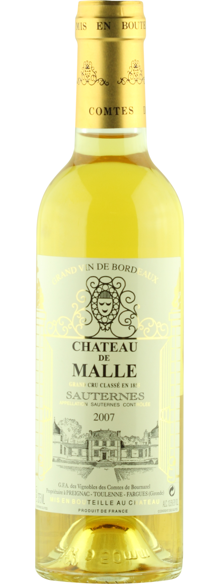 Chateau de Malle 2007, 750ml (WA93, WS92) from The BPW - Merchants of rare and fine wines.