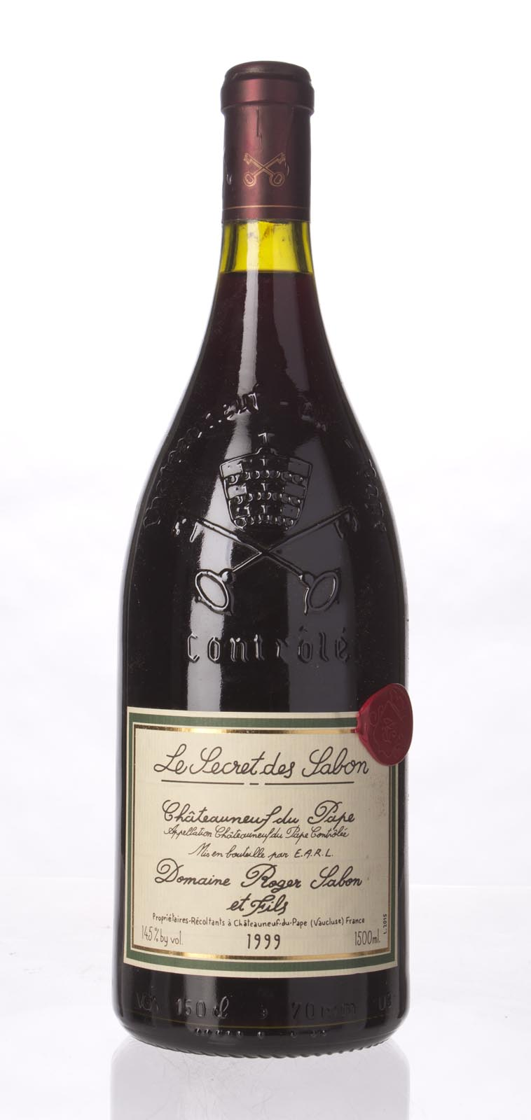 Domaine Roger Sabon Chateauneuf du Pape le Secret de Sabon 1999, 1.5L (WA96) from The BPW - Merchants of rare and fine wines.