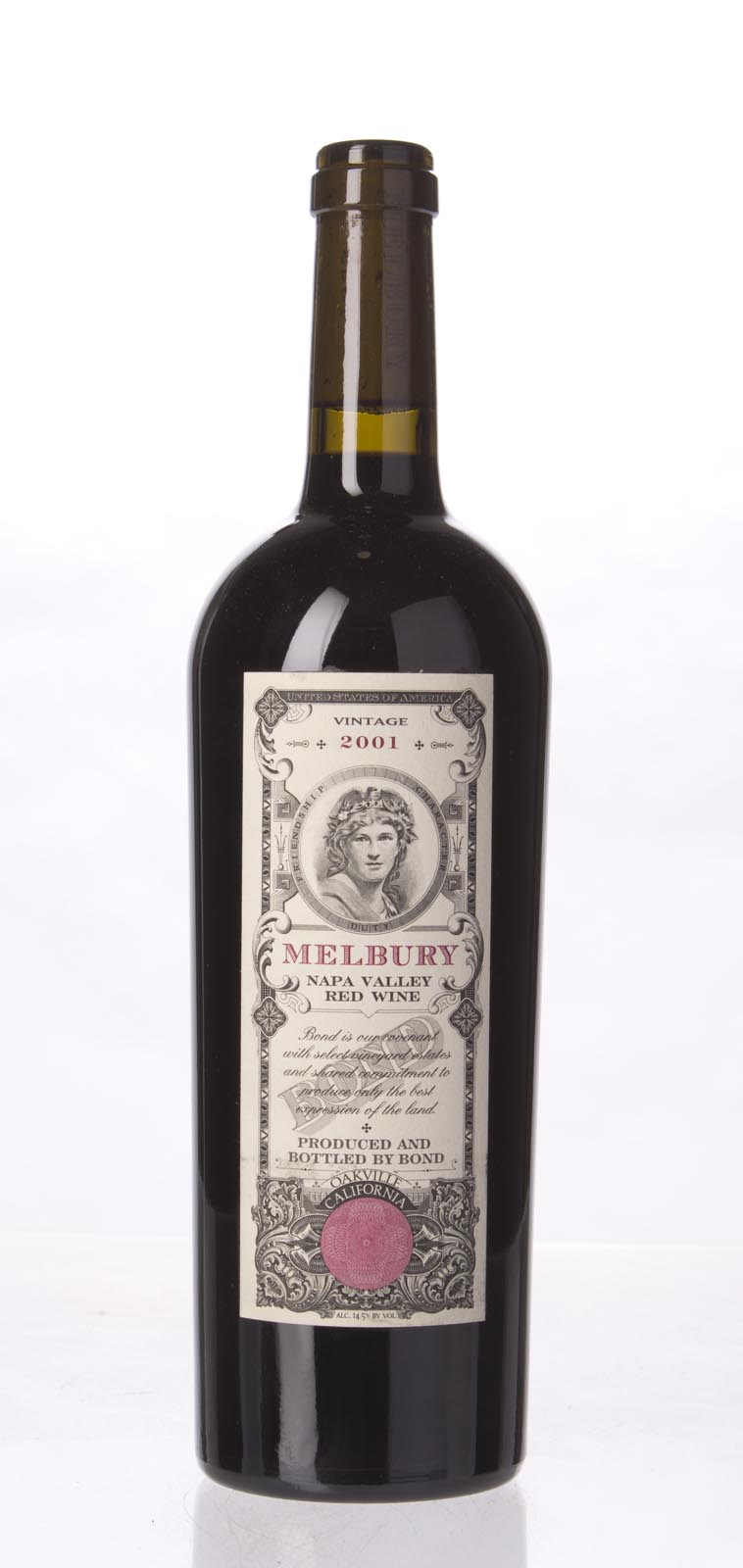 Bond Melbury 2001,  (WA98+) from The BPW - Merchants of rare and fine wines.