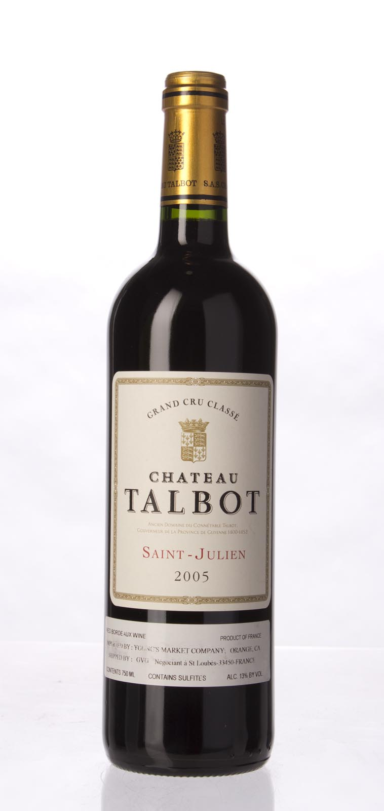 Talbot 2005,  (WA90, WS92) from The BPW - Merchants of rare and fine wines.