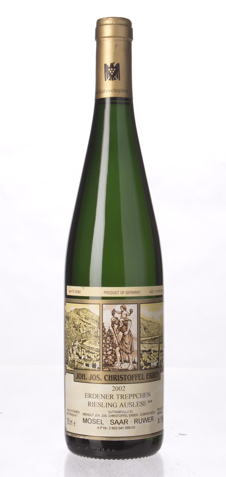 J. J. Christoffel Erdener Treppchen Riesling Auslese** Gold Capsule 2002, 750mL () from The BPW - Merchants of rare and fine wines.