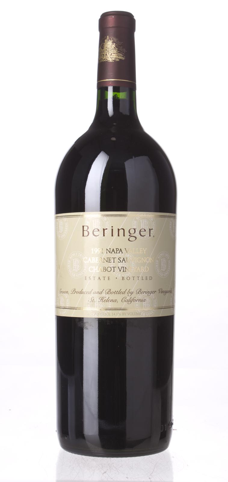 Beringer Cabernet Sauvignon Chabot Vineyard 1991, 1.5L (WA96) from The BPW - Merchants of rare and fine wines.