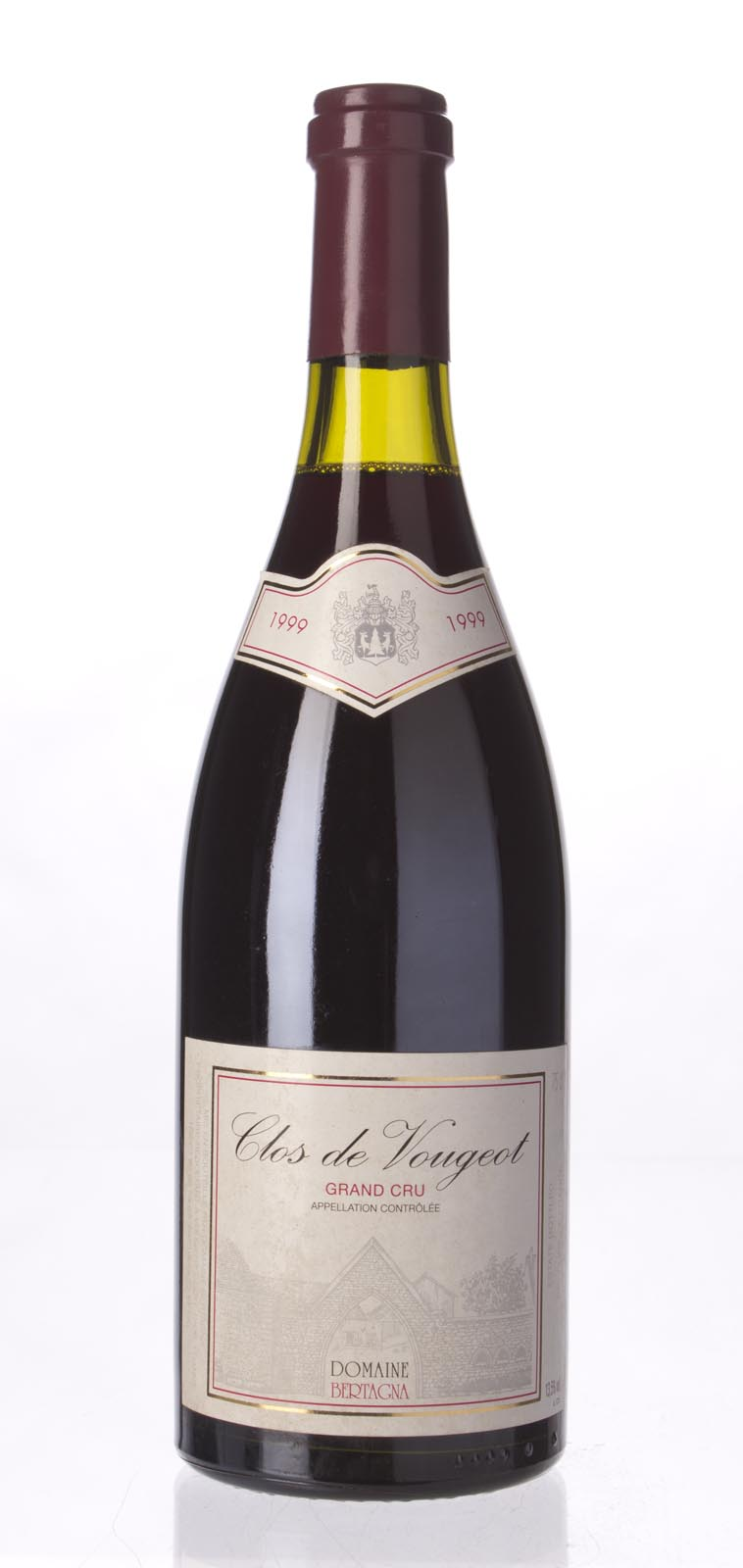 Domaine Bertagna Clos Vougeot 1999, 750ml (BH92) from The BPW - Merchants of rare and fine wines.