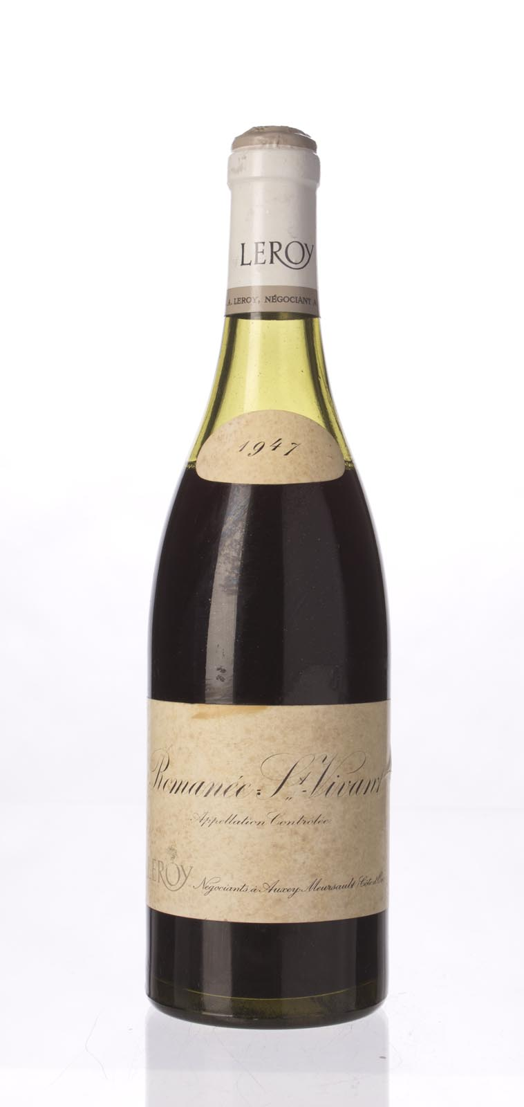 Domaine Leroy Romanee St. Vivant 1947, 750mL () from The BPW - Merchants of rare and fine wines.