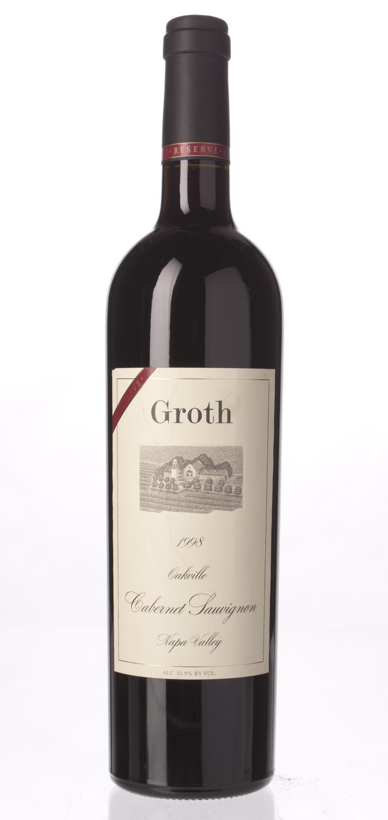 Groth Vineyards Cabernet Sauvignon Reserve 1998, 750mL () from The BPW - Merchants of rare and fine wines.