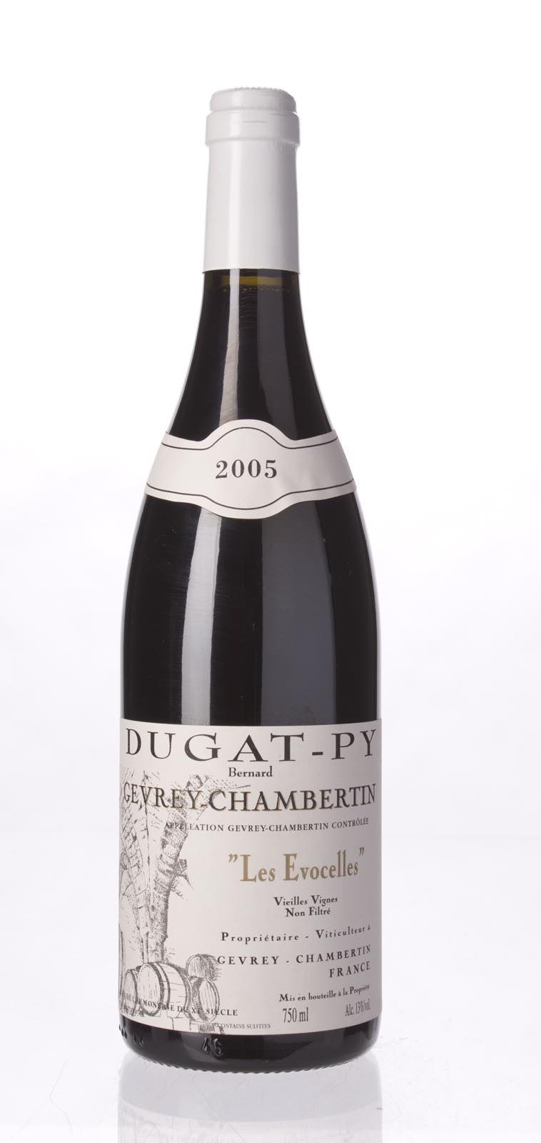 Domaine Dugat Py Gevrey Chambertin les Evocelles Vieilles Vignes 2005, 750ml (WA92-93) from The BPW - Merchants of rare and fine wines.