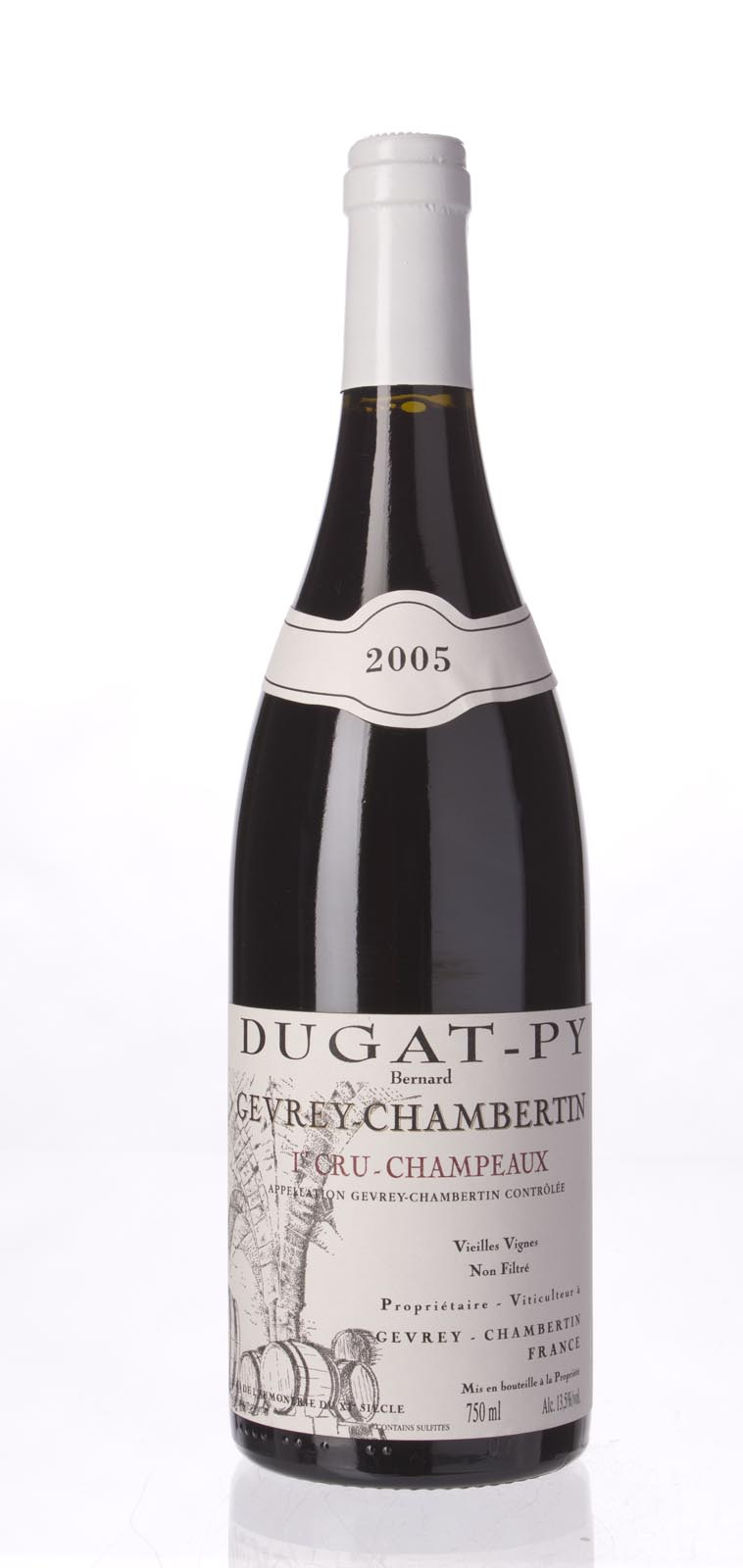 Domaine Dugat Py Gevrey Chambertin les Champeaux Vieilles Vignes 2005, 750mL (BH94, ST94) from The BPW - Merchants of rare and fine wines.