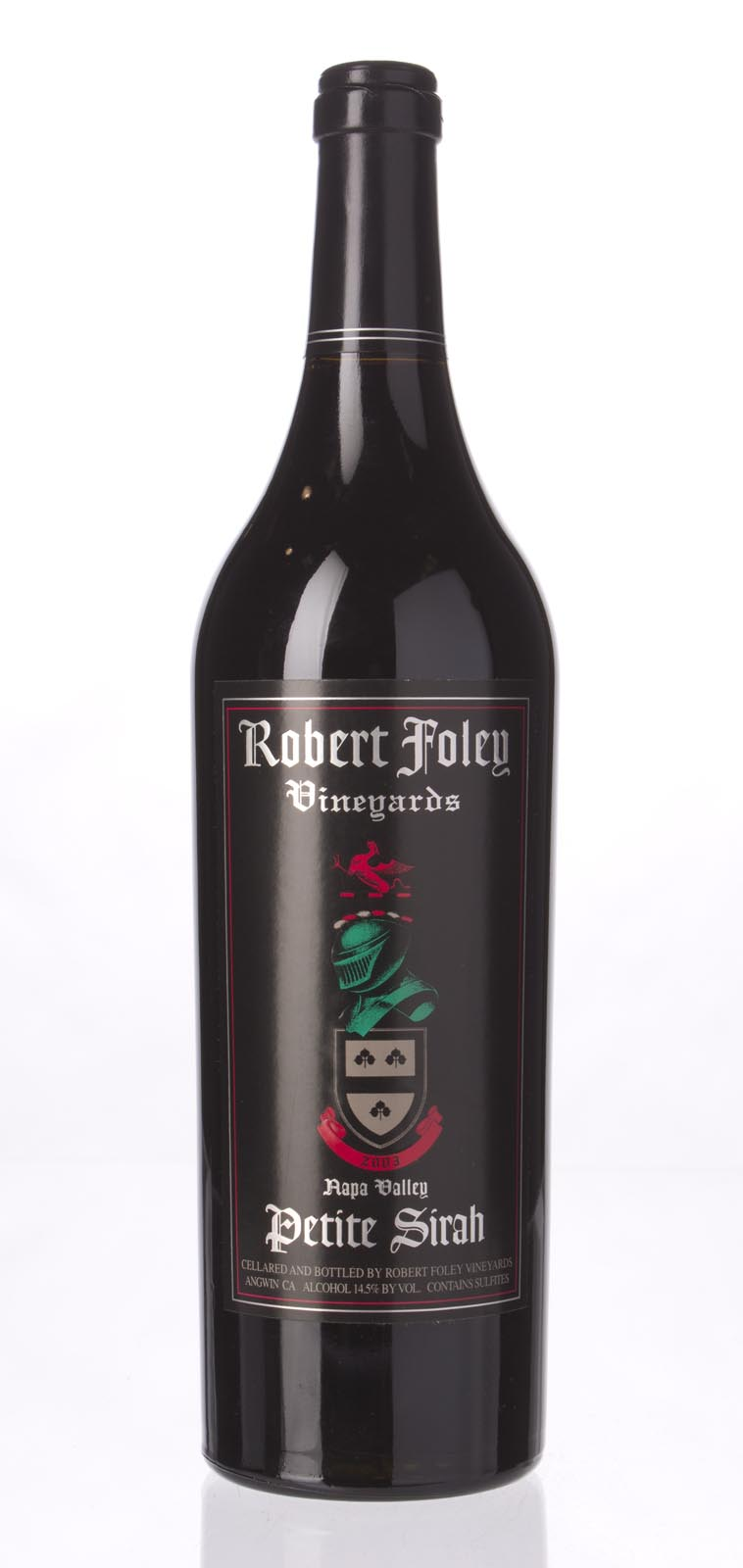Robert Foley Vineyards Petite Sirah Napa Valley 2003, 750mL (WA92, WS92) from The BPW - Merchants of rare and fine wines.