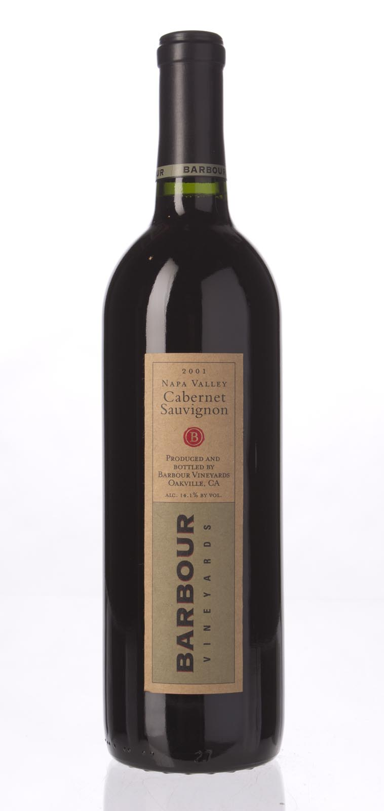 Barbour Vineyards Cabernet Sauvignon 2001,  (WA88) from The BPW - Merchants of rare and fine wines.