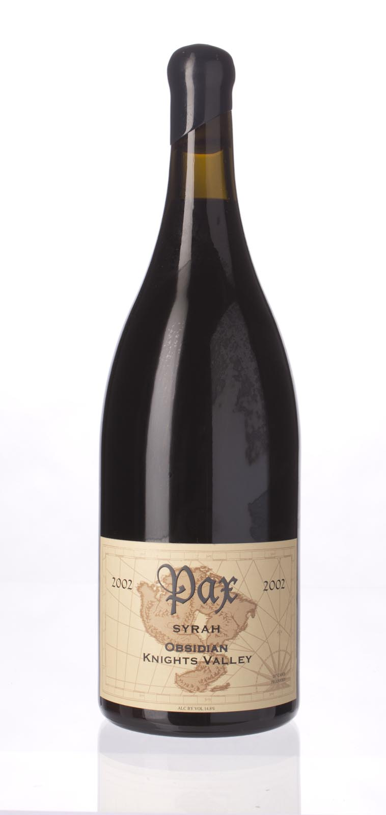 Pax Cellars Syrah Obsidian 2002, 1.5L (ST92, WS93) from The BPW - Merchants of rare and fine wines.