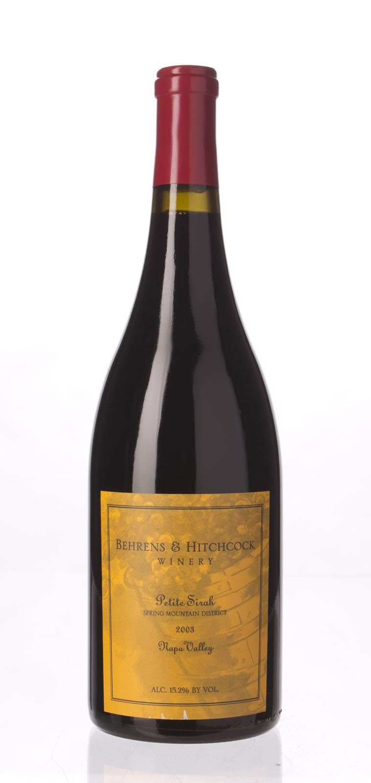 Behrens & Hitchcock Petite Sirah Spring Mountain 2003,  () from The BPW - Merchants of rare and fine wines.