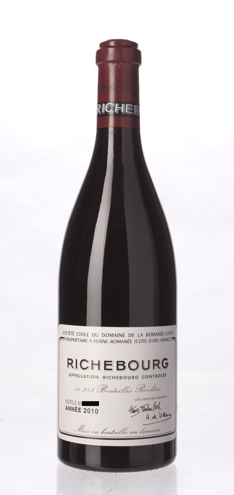 Domaine de La Romanee Conti Richebourg 2010, 750ml (BH96) from The BPW - Merchants of rare and fine wines.