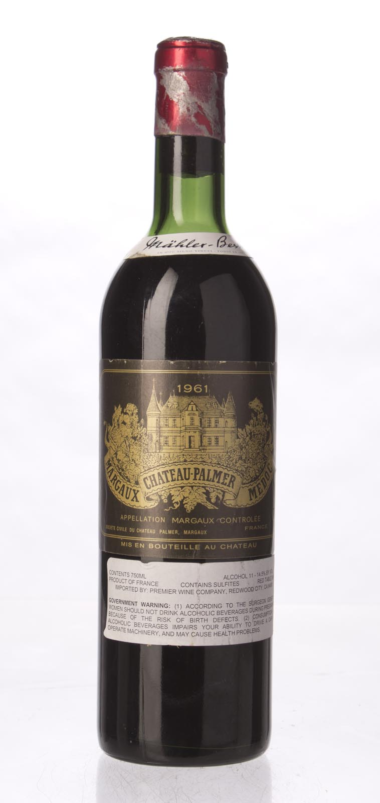 Palmer 1961,  (WA99, ST98) from The BPW - Merchants of rare and fine wines.