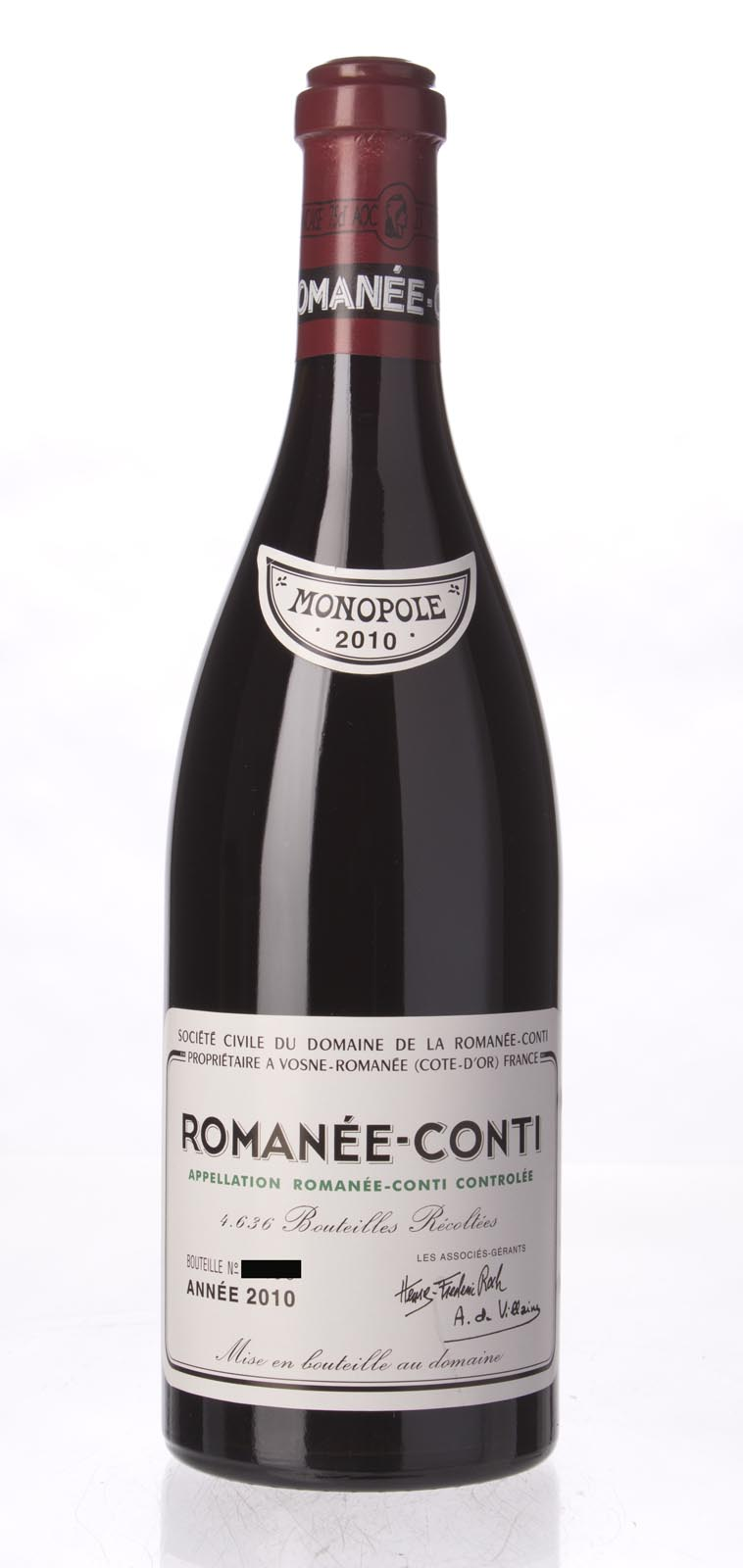 Domaine de La Romanee Conti Romanee Conti 2010, 750ml (BH99, WA97-99, ST98+) from The BPW - Merchants of rare and fine wines.