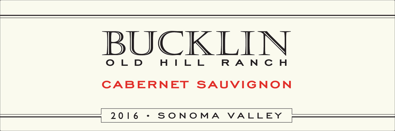2016 Cabernet Sauvignon Old Hill Ranch - Bucklin Old Hill Ranch