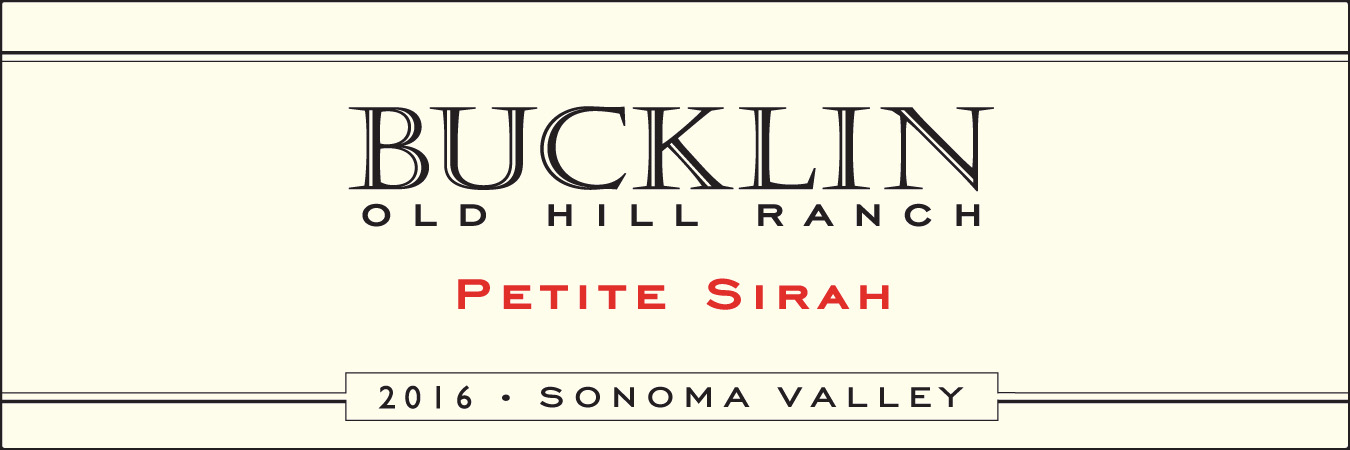 2016 Petite Sirah Old Hill Ranch - Bucklin Old Hill Ranch