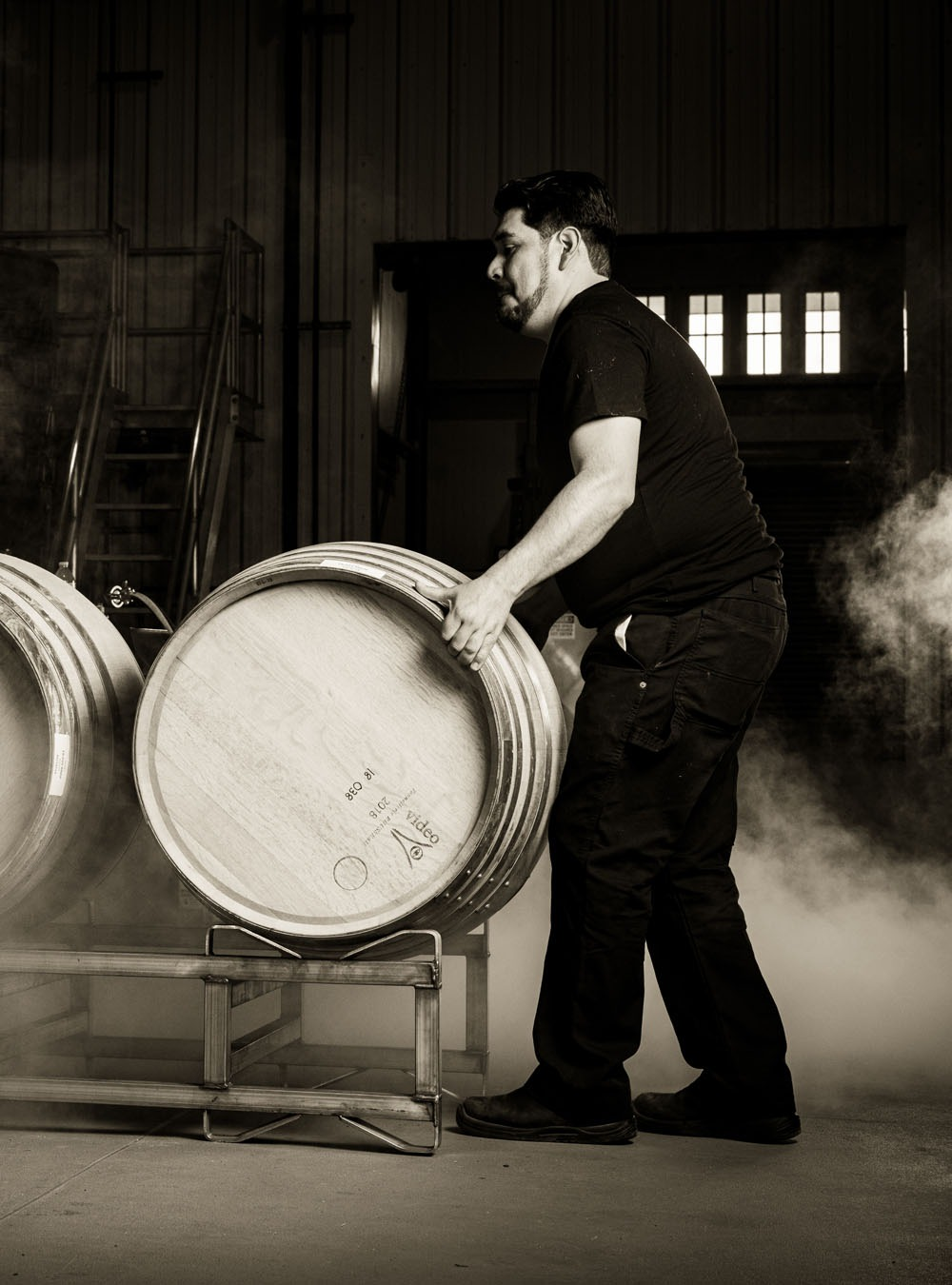 Rigo Rivera Racking Barrels