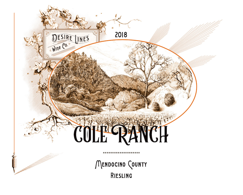2018 Desire Lines Cole Ranch Riesling Cole Ranch - Desire Lines Wine Co.