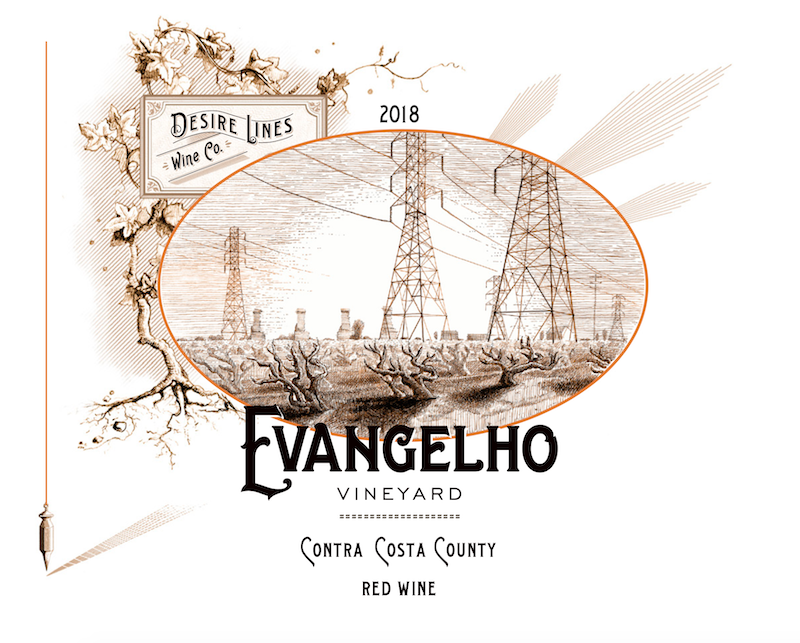 2018 Desire Lines Evangelho Red Wine Contra Costa County - Desire Lines Wine Co.
