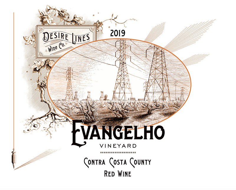 2019 Desire Lines Evangelho Red Wine Contra Costa County - Desire Lines Wine Co.