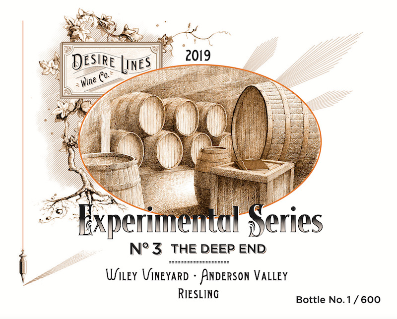 2019 Experimental Series #3: Wiley Vineyard Riesling Anderson Valley - Desire Lines Wine Co.