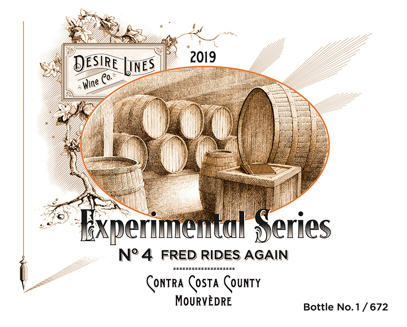 2019 Desire Lines Experimental Series #4: Fred Rides Again Contra Costa County - Desire Lines Wine Co.