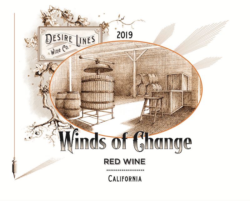 2019 Winds of Change Red Wine California - Desire Lines Wine Co.