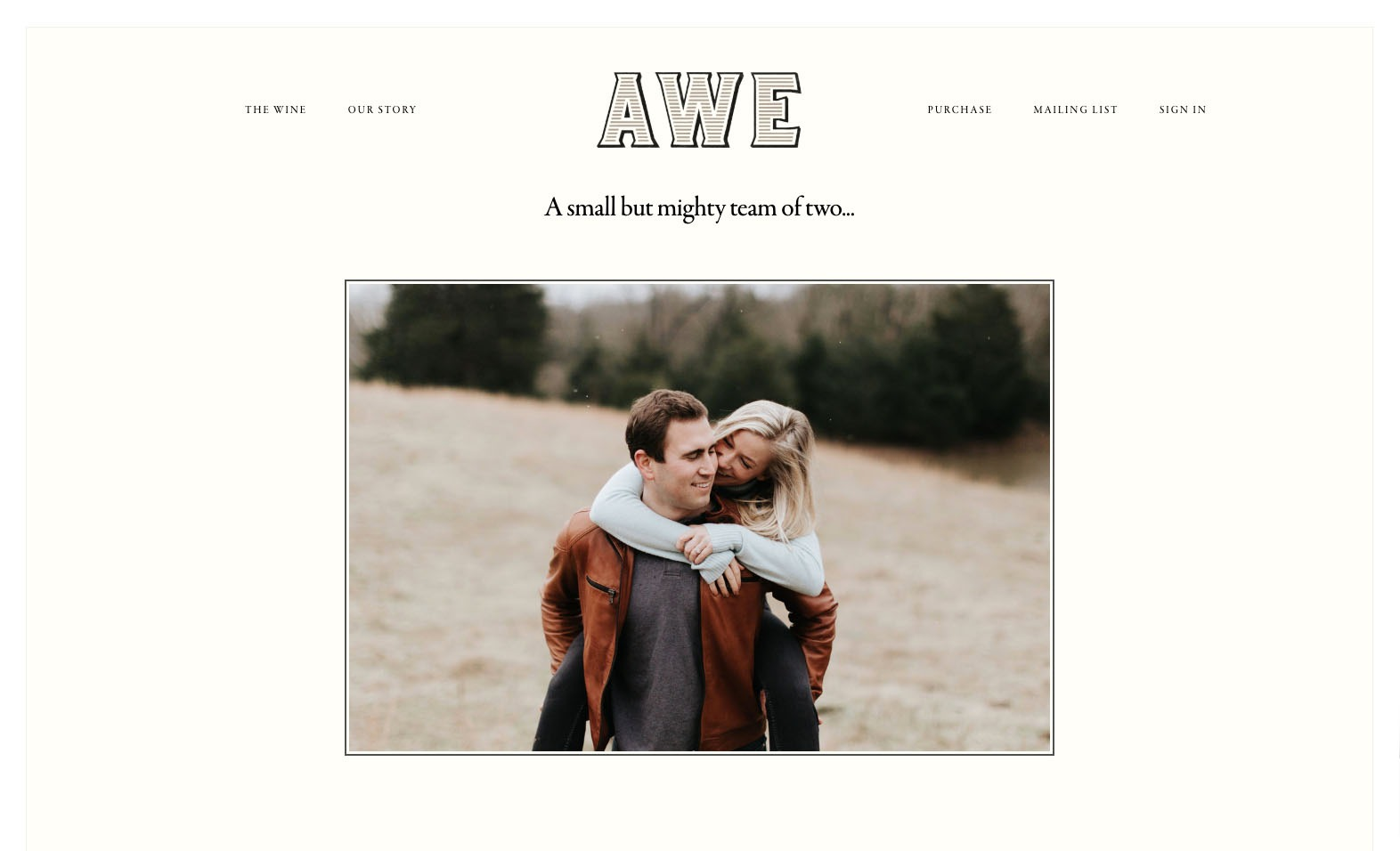 Awe Wines Website