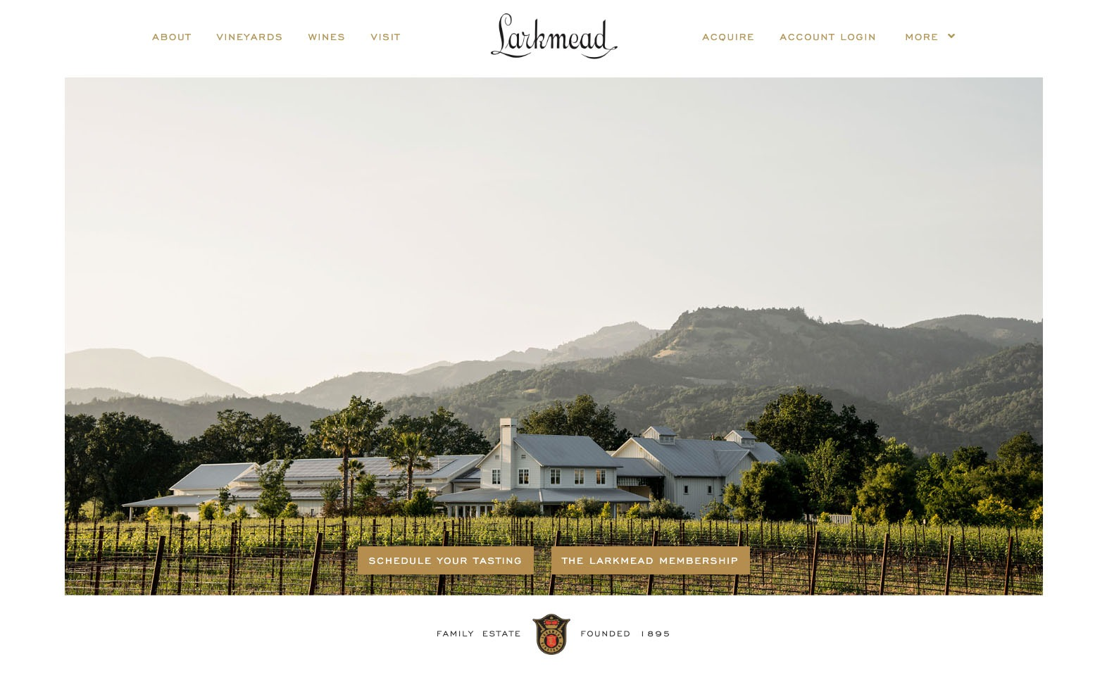 Larkmead Vineyards Website