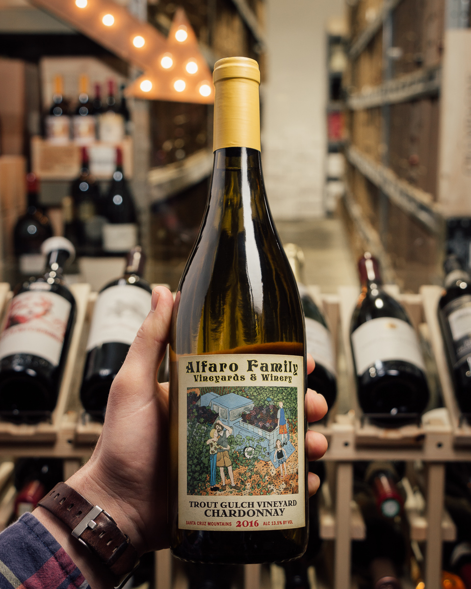 Alfaro Family Chardonnay Trout Gulch Vineyard 2016  - First Bottle