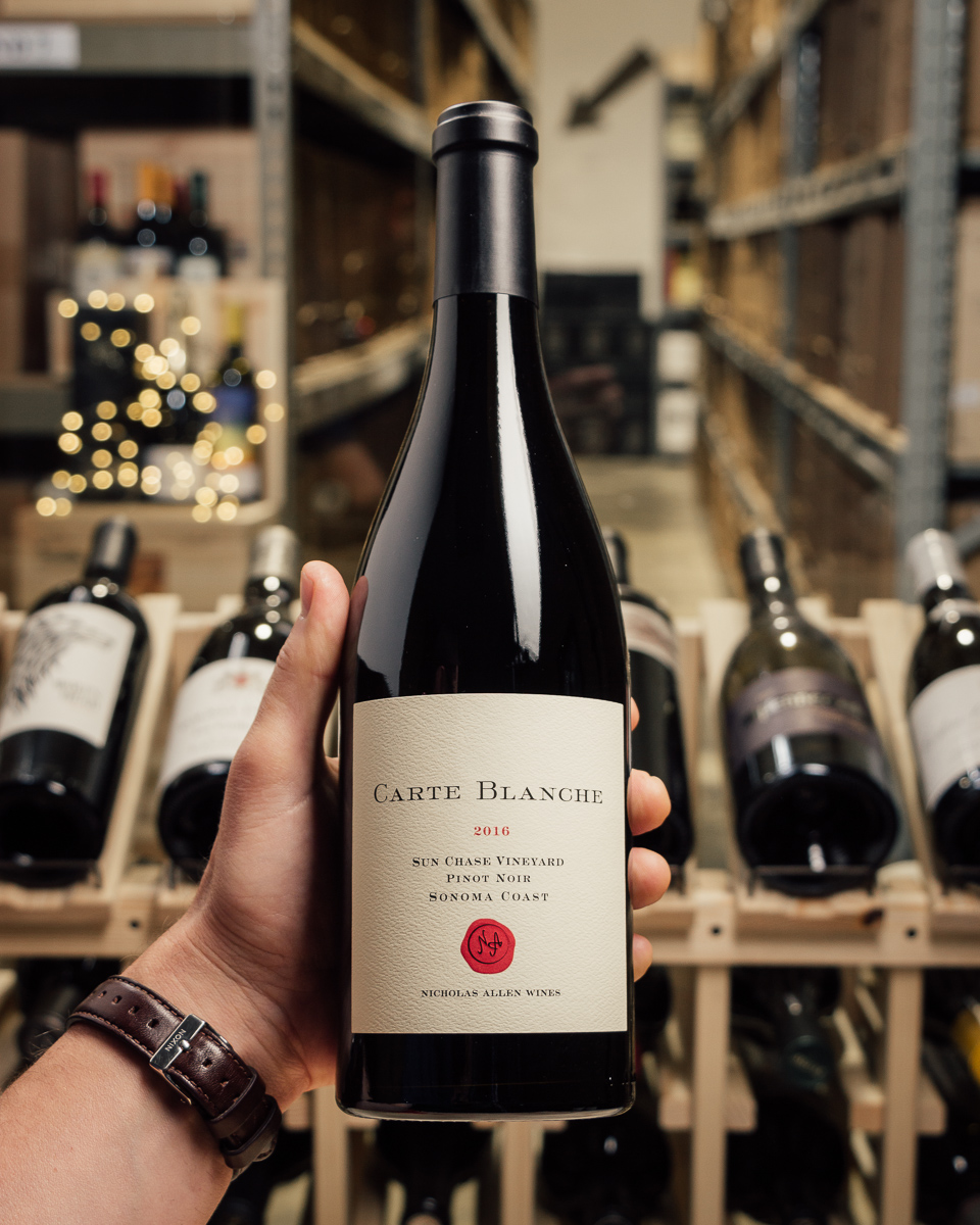 Carte Blanche Pinot Noir Sun Chase Vineyard 2016  - First Bottle