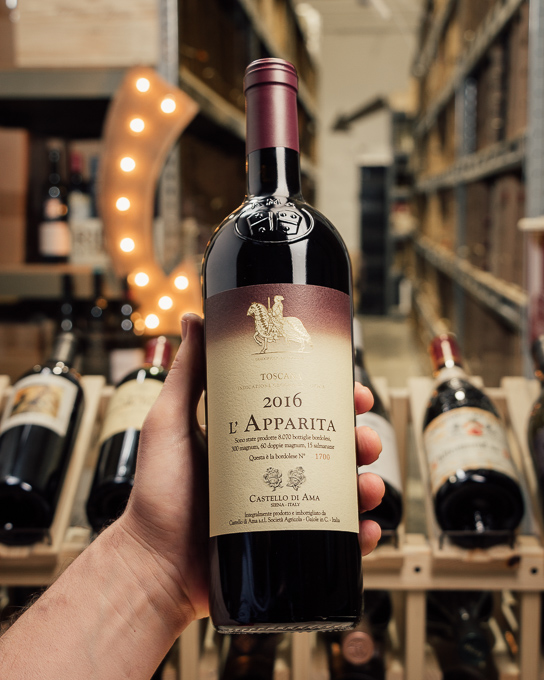 Castello di Ama Vigna l`Apparita 2016  - First Bottle
