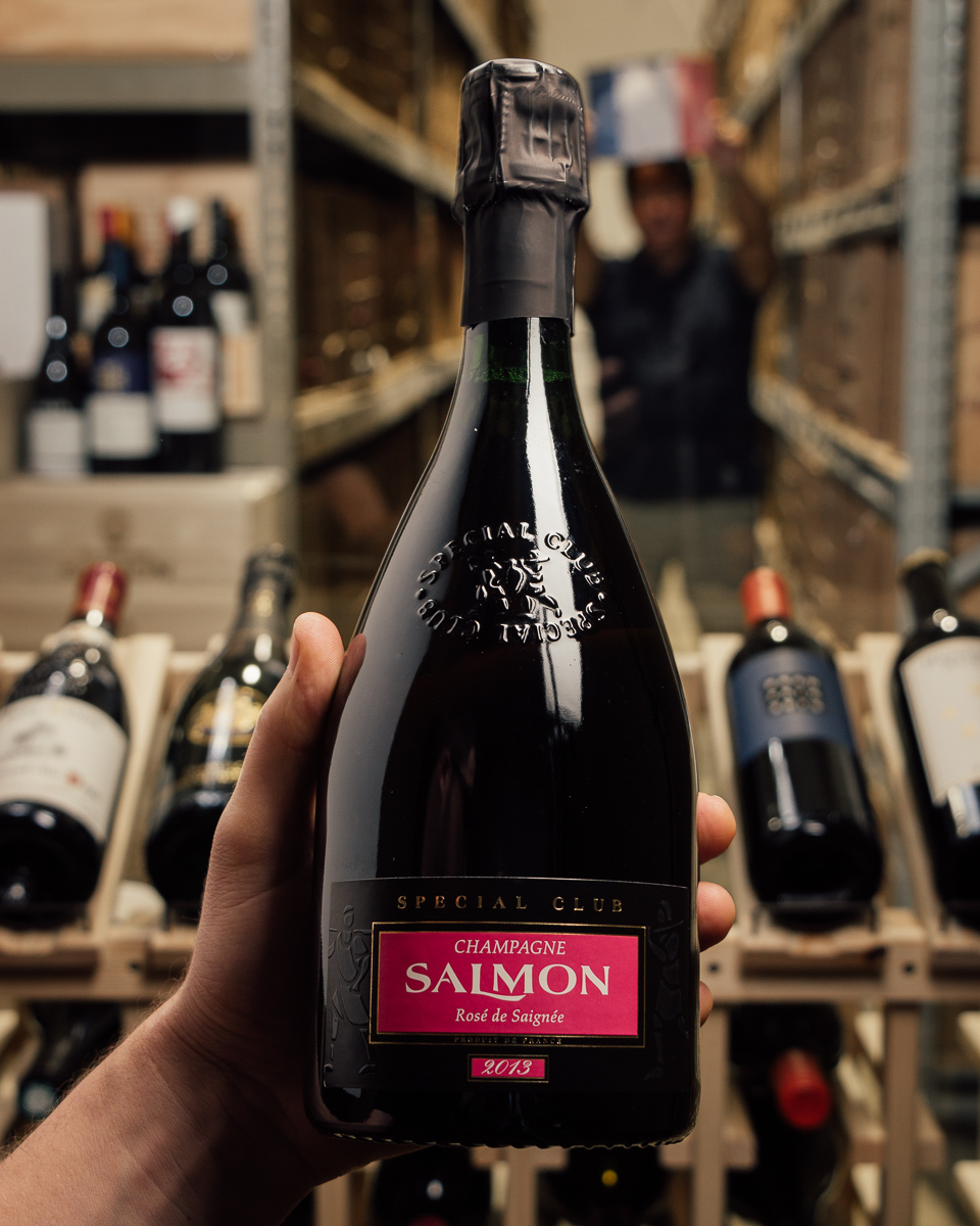 Champagne Salmon Rose de Saignee Special Club 2013  - First Bottle