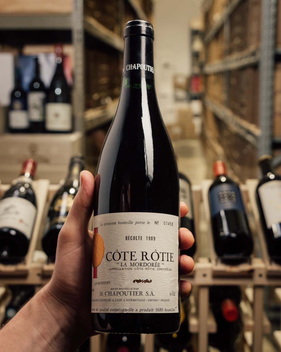 Chapoutier Cote Rotie la Mordoree 1989  - First Bottle
