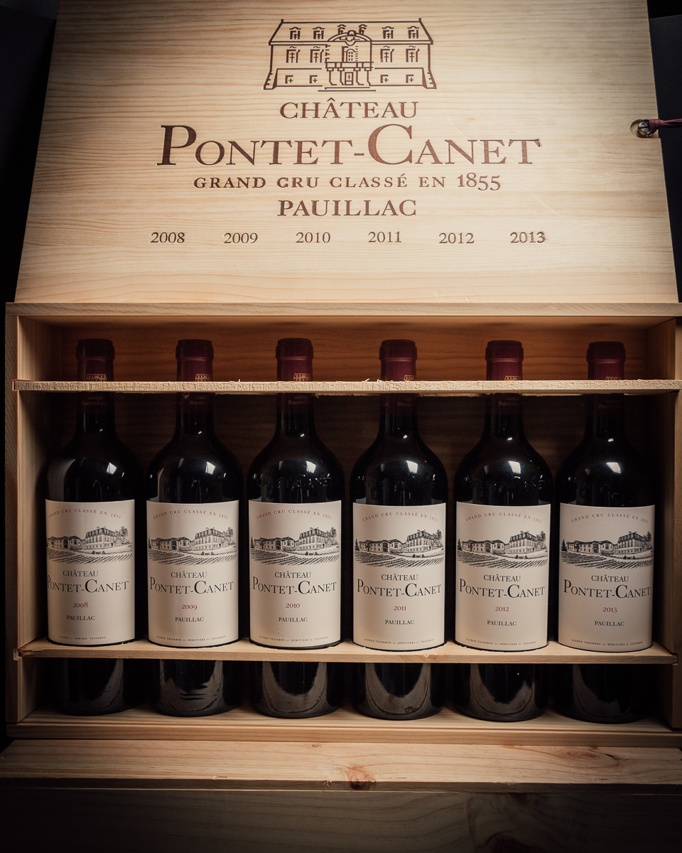Chateau Pontet Canet Vertical Case  - First Bottle