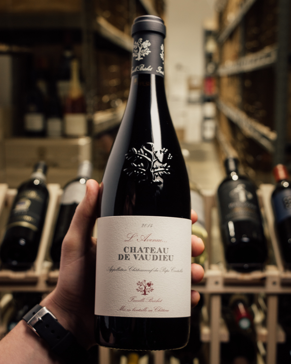 Chateau de Vaudieu Chateauneuf du Pape l`Avenue 2014  - First Bottle