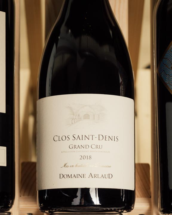 Domaine Arlaud Clos Saint Denis Grand Cru 2018 (slightly scuffed labels)