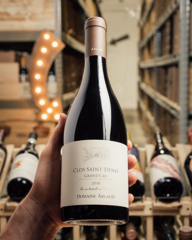 Domaine Arlaud Clos Saint Denis Grand Cru 2018 (slightly scuffed labels)  - First Bottle
