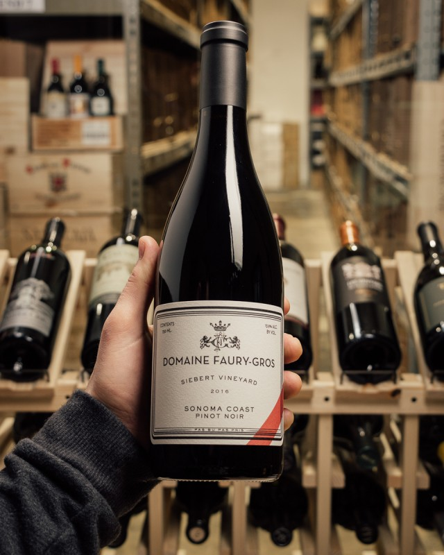 Domaine Faury-Gros Pinot Noir Siebert Vineyard 2016  - First Bottle