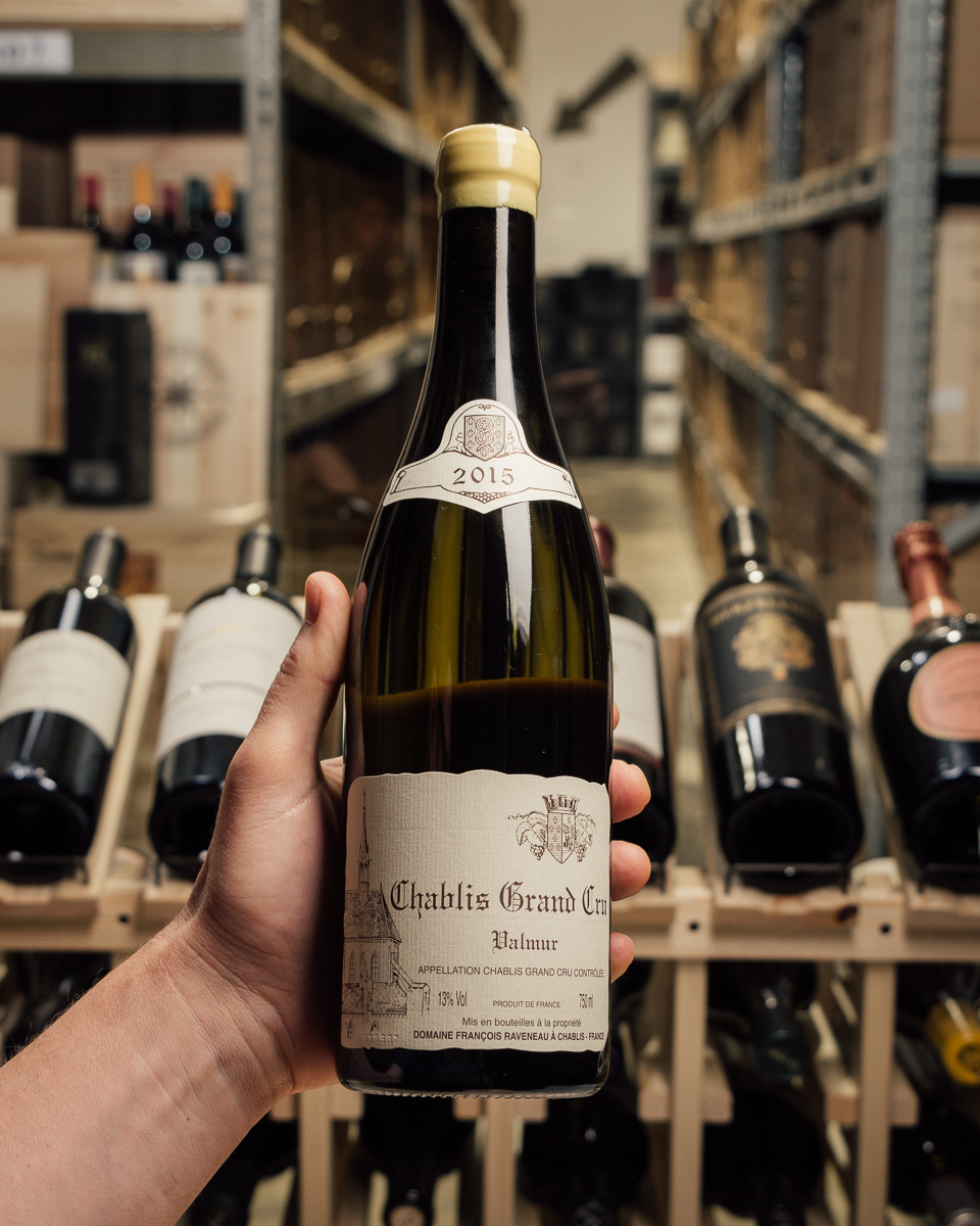Domaine Francois Raveneau Chablis Valmur Grand Cru 2015 (cracked wax capsule)  - First Bottle