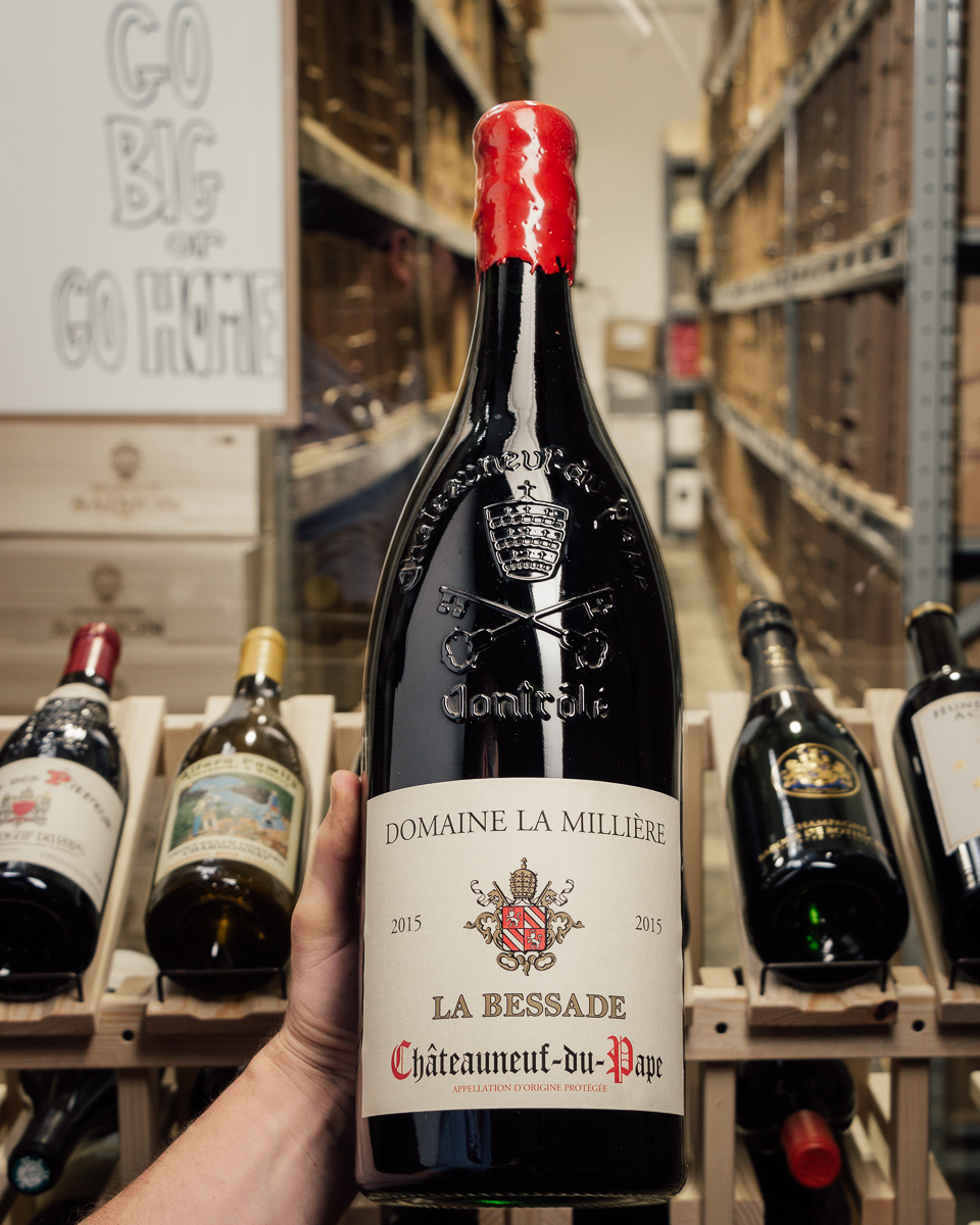 Domaine de la Milliere Chateauneuf du Pape La Bessade 2015 (Double Magnum 3L)  - First Bottle