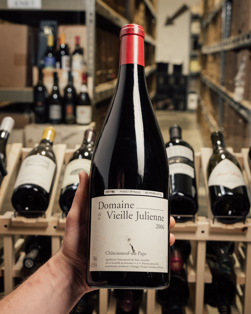 Domaine de la Vieille Julienne Chateauneuf du Pape 2006 (Magnum 1.5L) torn label  - First Bottle