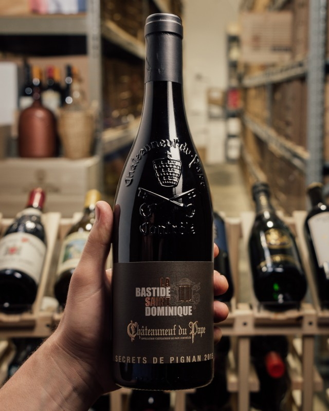 Domaine la Bastide Saint Dominique Chateauneuf du Pape Secrets de Pignan 2015  - First Bottle