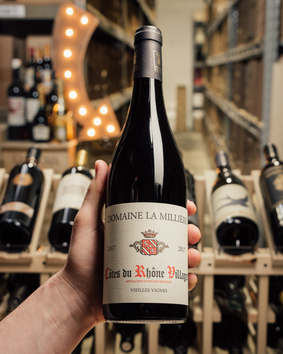 Domaine la Milliere Cotes du Rhone Villages Vieilles Vignes 2017  - First Bottle